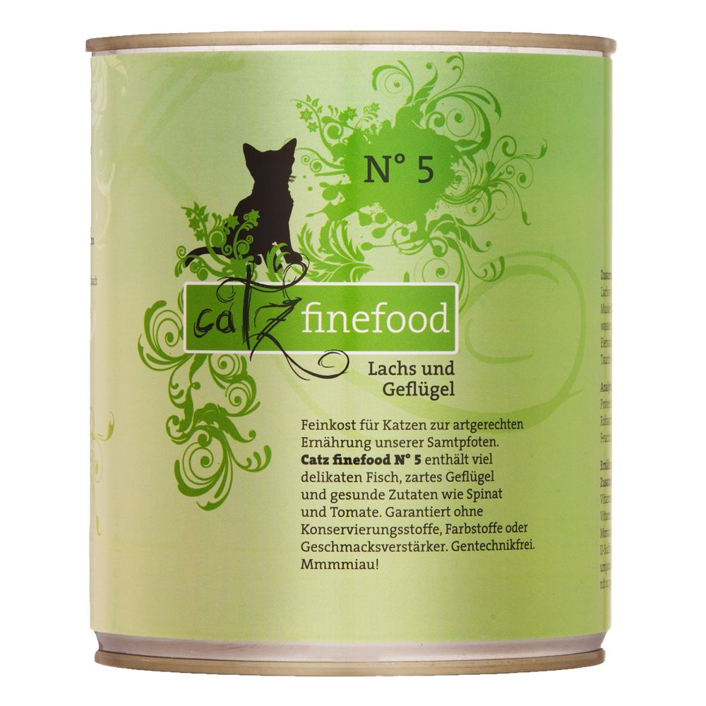 6x800g Mixed Trial Pack Catz Finefood Wet Cat Food