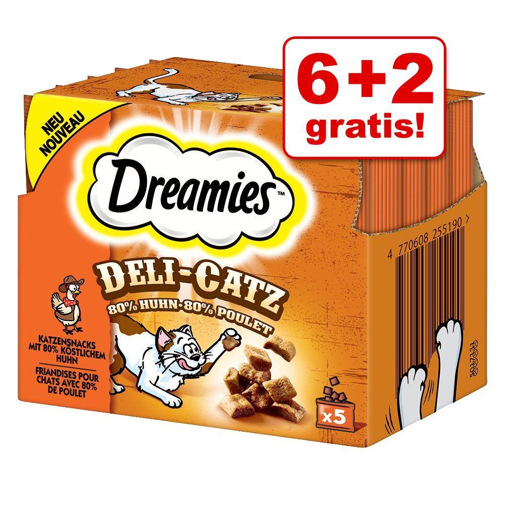 6 + 2 gratis! Dreamies Deli-Catz przysmaki dla kota, 8 x 25 g - Kurczak, 8 x 25 g