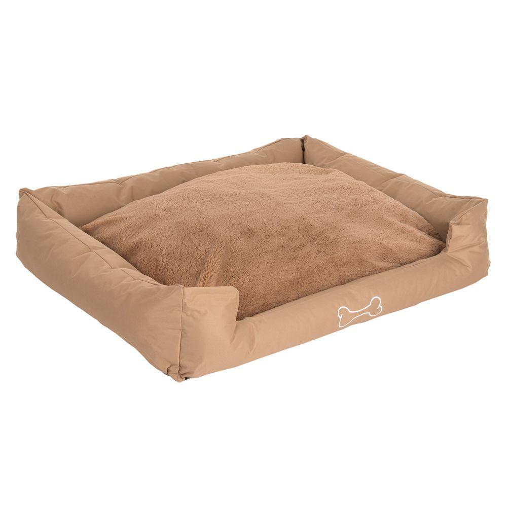 Strong&Soft Premium Plush Dog Bed - Sand - 120 x 95 x 28 cm (L x W x H)