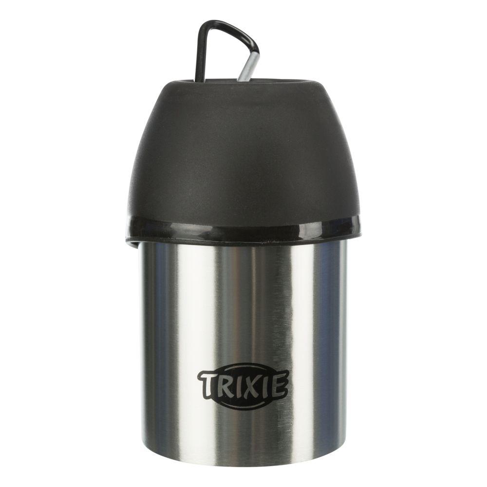 Trixie Friends on Tour Edelstahl-Flasche mit Trinknapf - 300 ml
