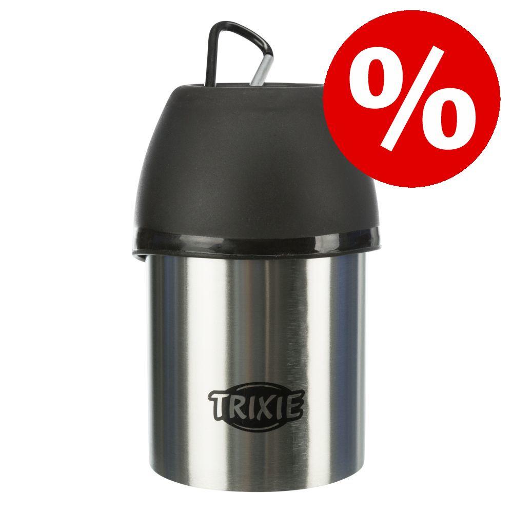 Trixie Friends on Tour Edelstahl-Flasche mit Trinknapf zum Sonderpreis! - 750 ml