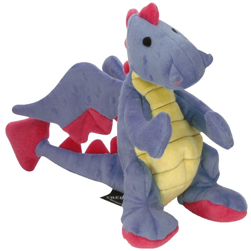 goDog Dragons Periwinkle zabawka dla psa - Dł. x szer. x wys.: 31 x 9 x 22 cm