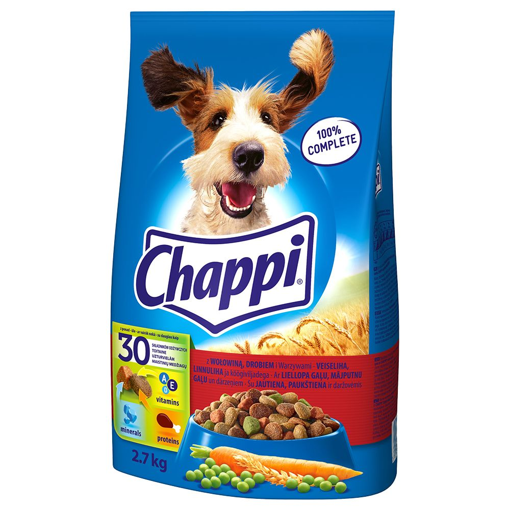 Chappi, wołowina i drób -