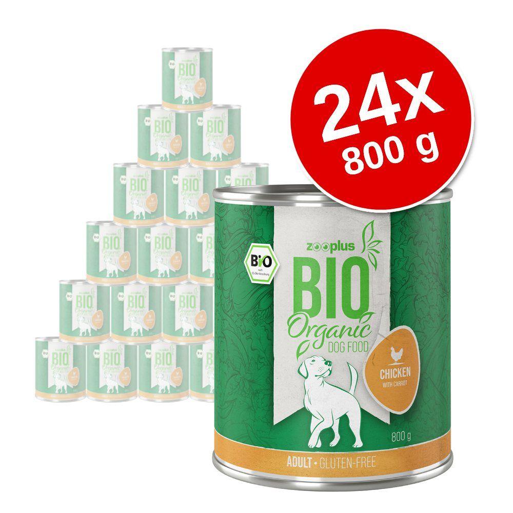 Ekonomipack: zooplus Bio 24 x 800 g - Blandpack II