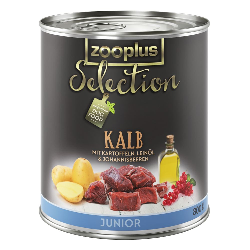 zooplus Selection Junior Veal - Saver Pack: 24 x 800g