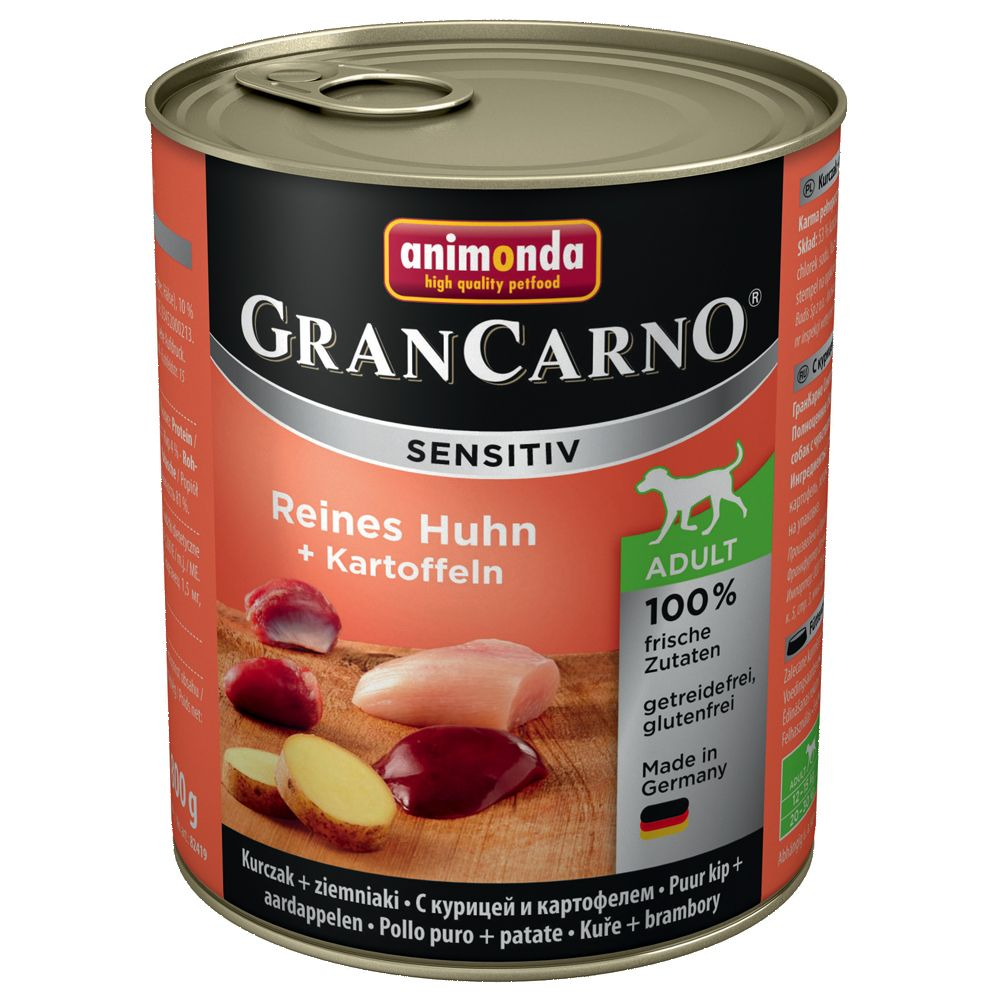 Animonda GranCarno Sensitive Saver Pack 12 x 800g - Pure Chicken