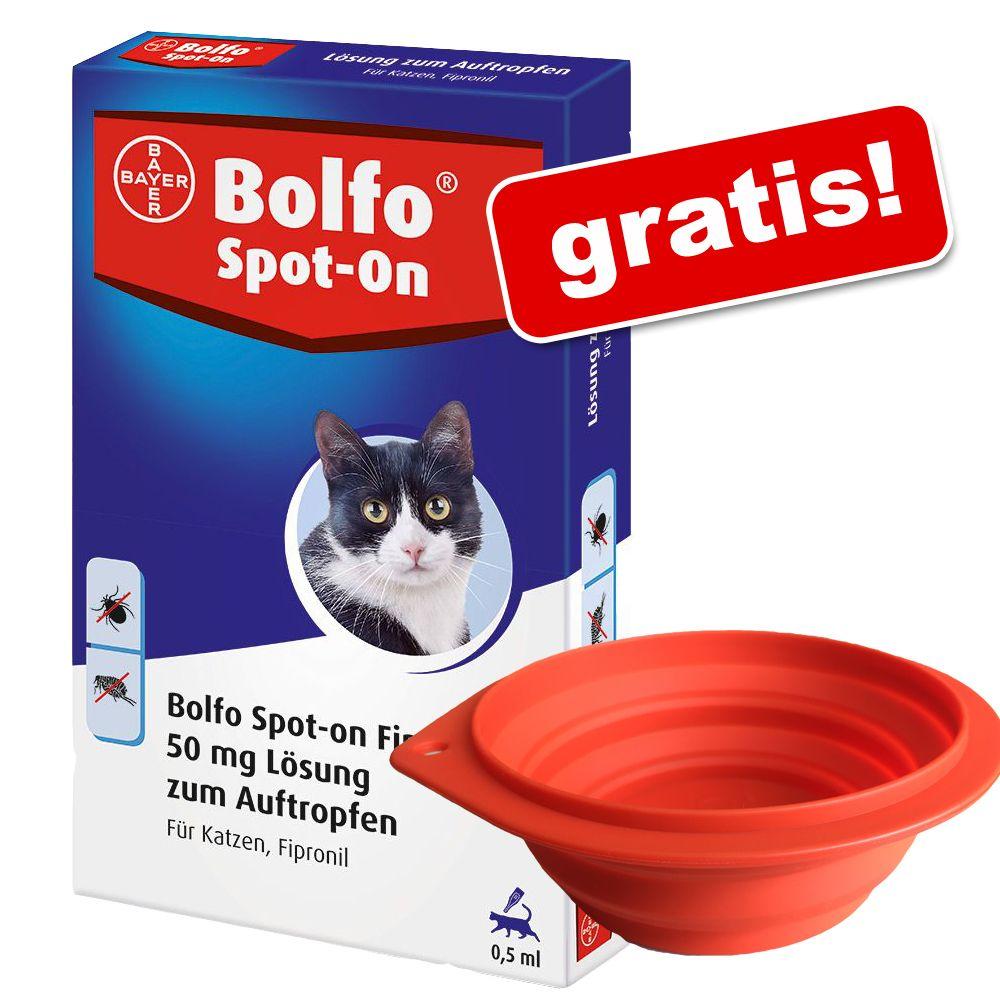 Bolfo Spot-on Katze + Reisenapf gratis! - 3 Pip...