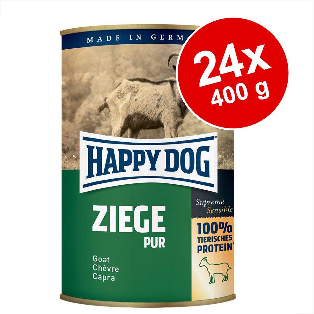 Ekonomipack: Happy Dog pure Sensible 24 x 400 g - Kängur pur
