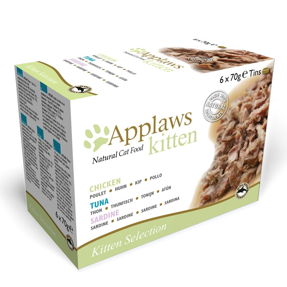 Image of Applaws Kitten 6 x 70 g - Mixpaket Sardine, Huhn, Thunfisch