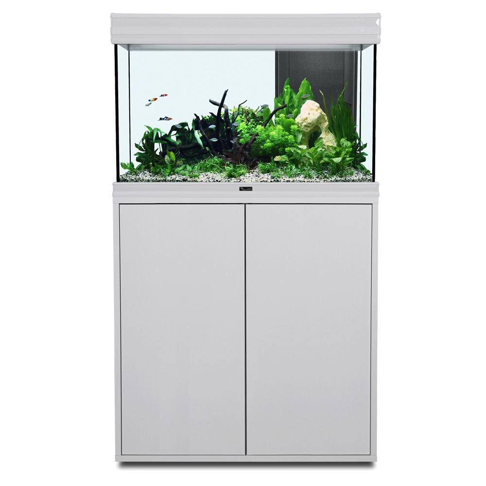 Image of Set acquario + supporto Aquatlantis Fusion 80 LED - bianco