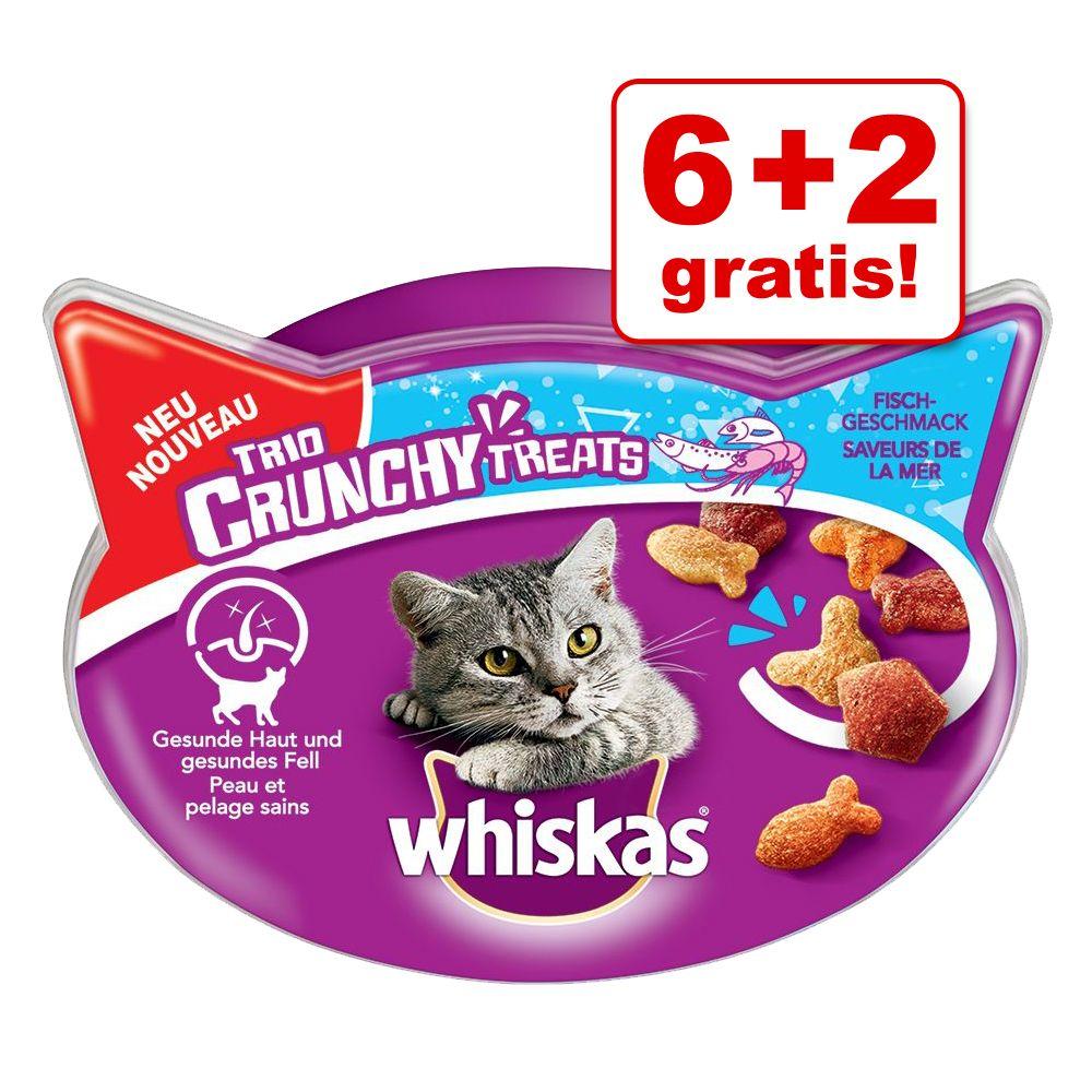 6 + 2 gratis! 8 x 55 g Whiskas Trio Crunchy Tre...