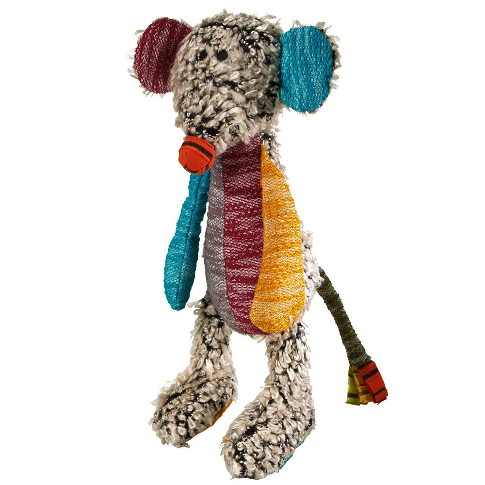 Hunter Patchwork Hobbs Mouse Dog Toy