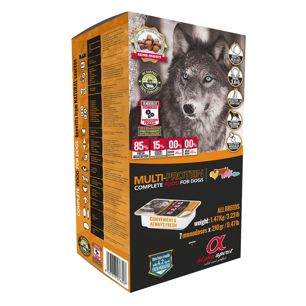 Alpha Spirit Multi-Protein Dog Food - 1.47kg