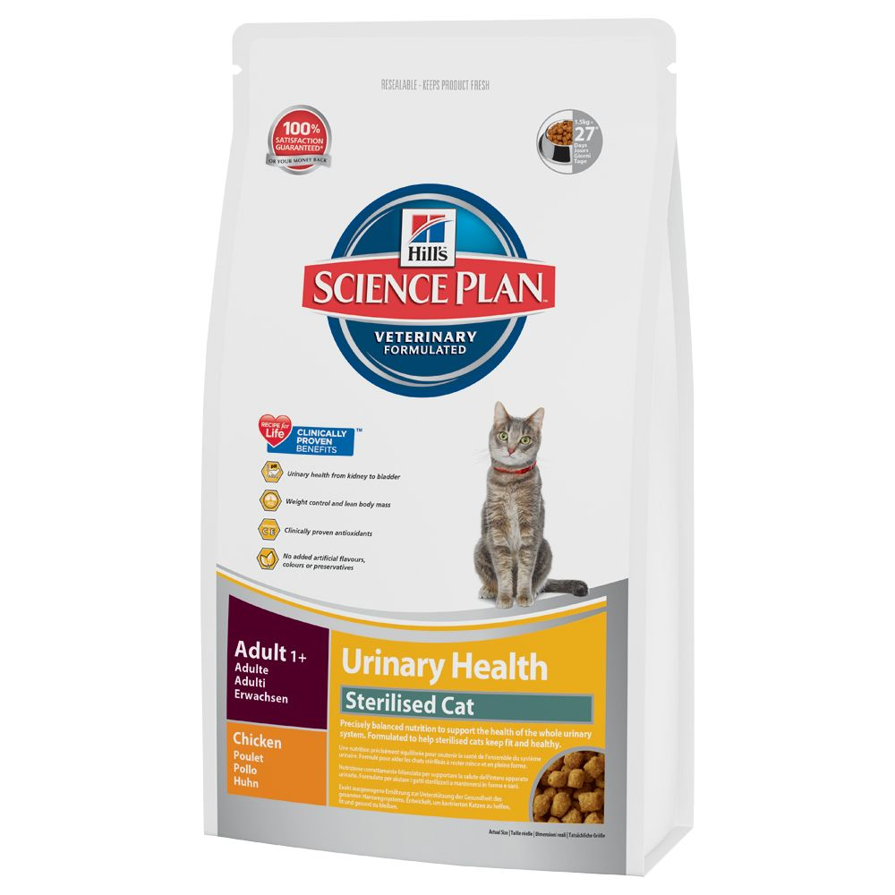 Hill's Science Plan Adult Cat Urinary & Sterilised - Chicken - 1.5kg
