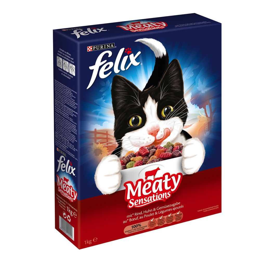 Felix Meaty Sensations Dry Cat Food with Meat