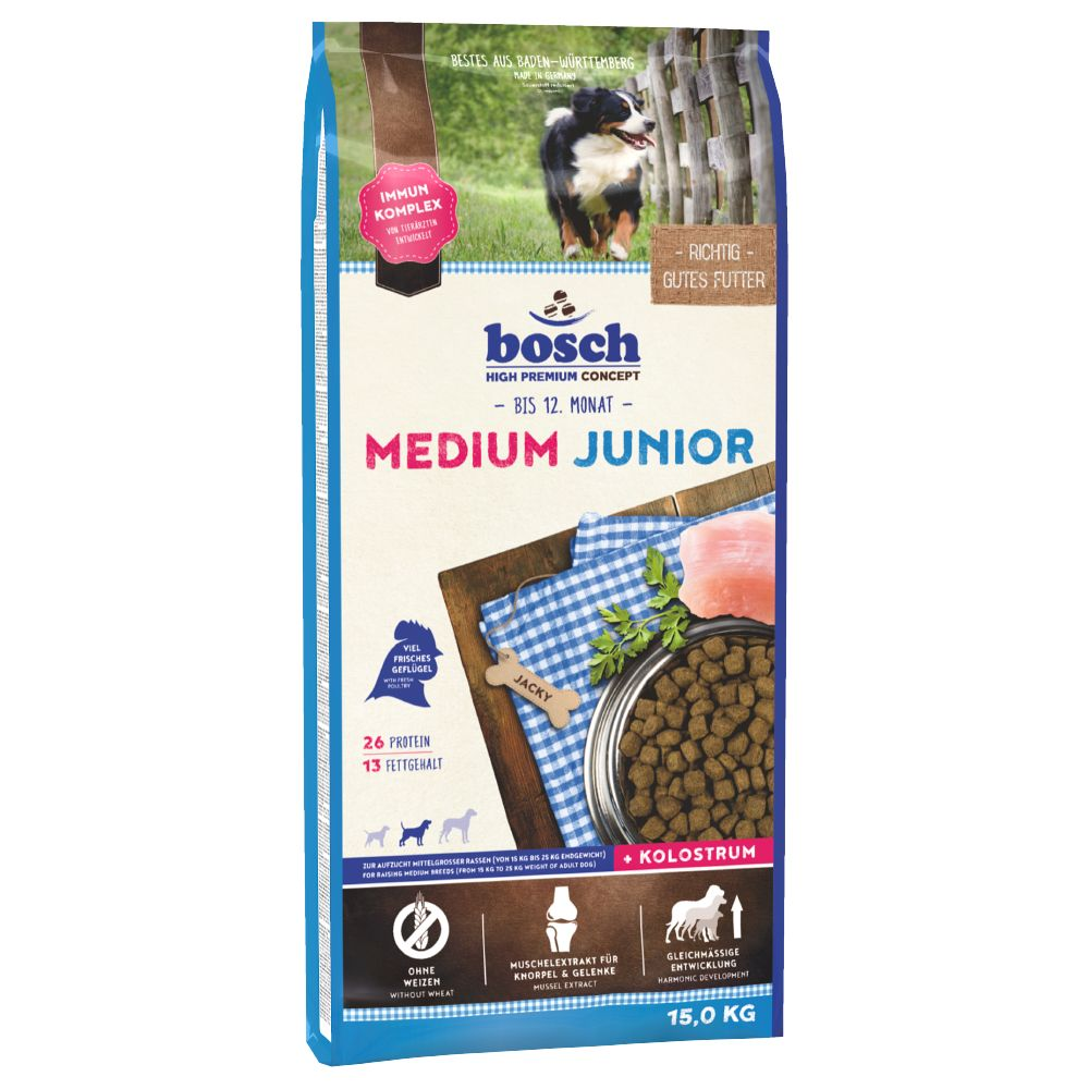 Bosch Medium Junior Dry Dog Food - 3kg