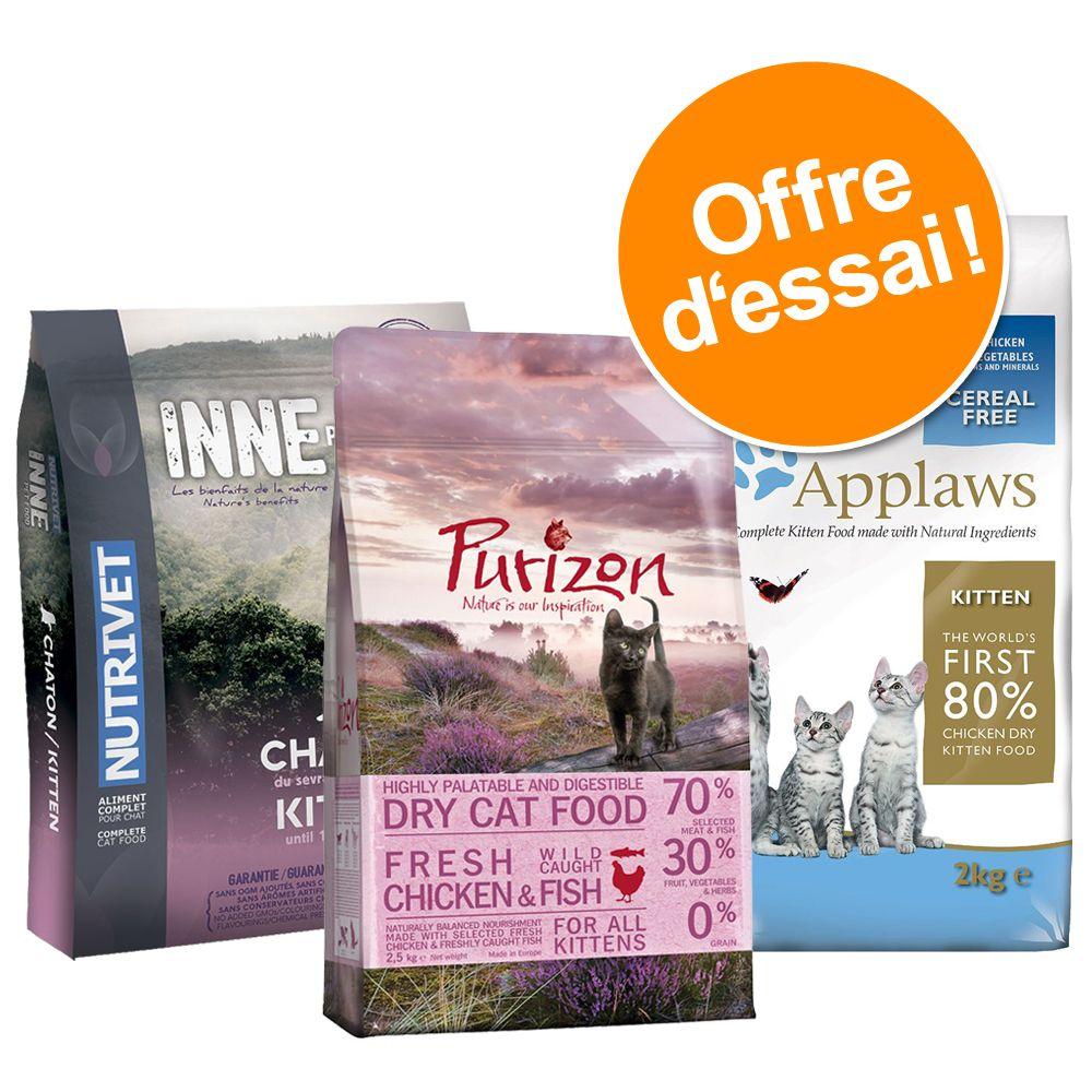 Offre découverte : marques premium sans céréales pour chaton - offre d'essai chaton (3 variétés)