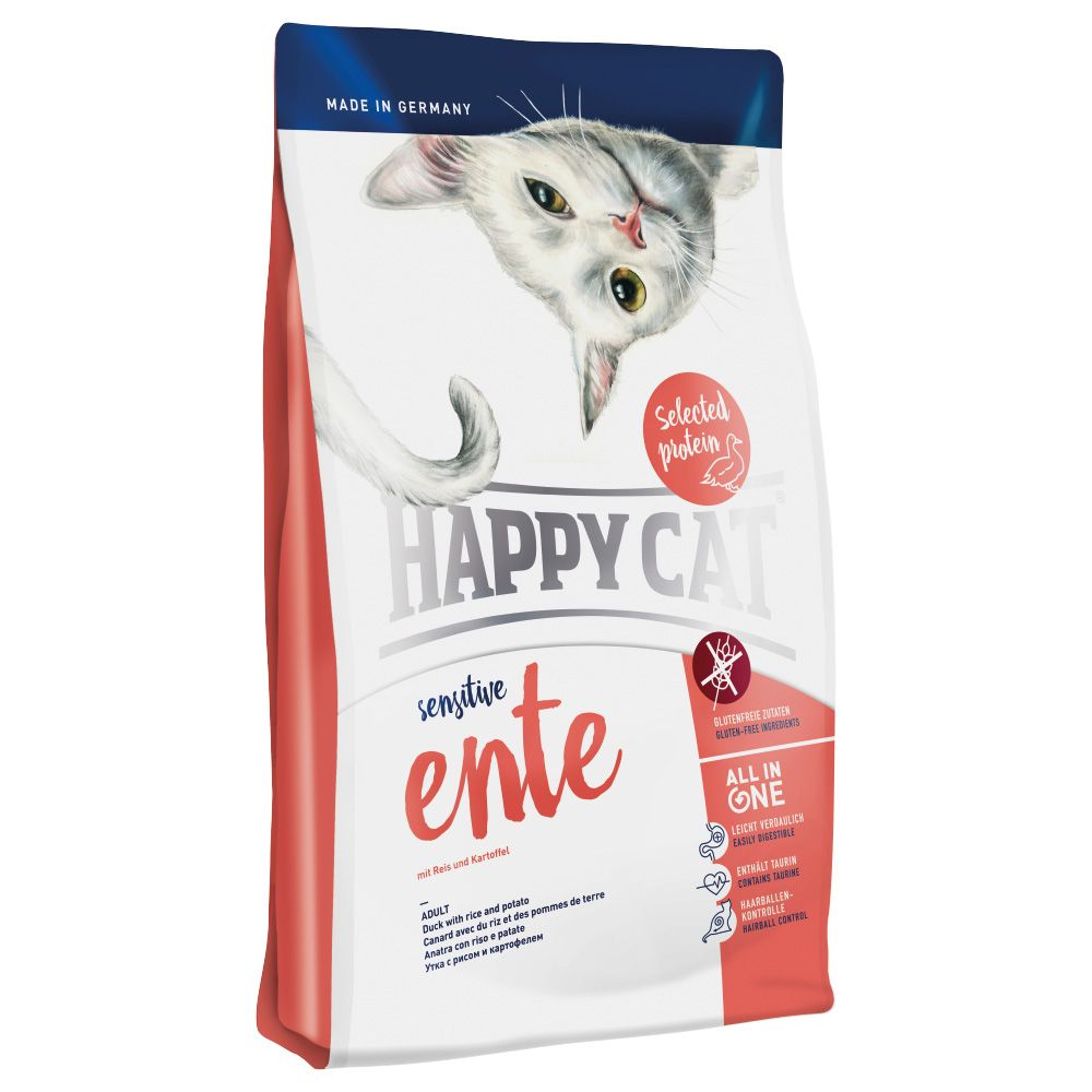 Happy Cat Sensitive Duck - Ekonomipack: 2 x 4 kg