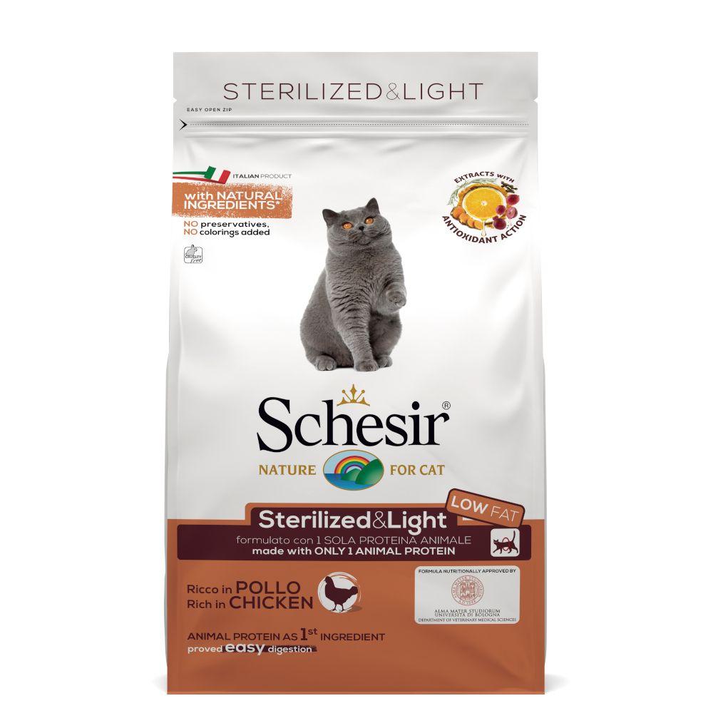 Schesir Sterilized & Light med kyckling Ekonomipack: 3 x 1,5 kg
