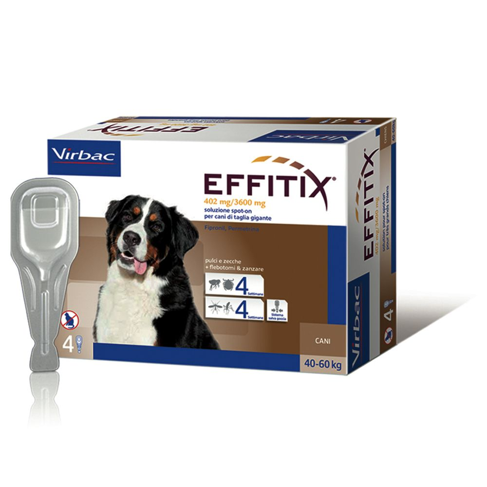 Image of Effitix per cani da 40 a 60 kg - 4 pipette (6,6 ml)