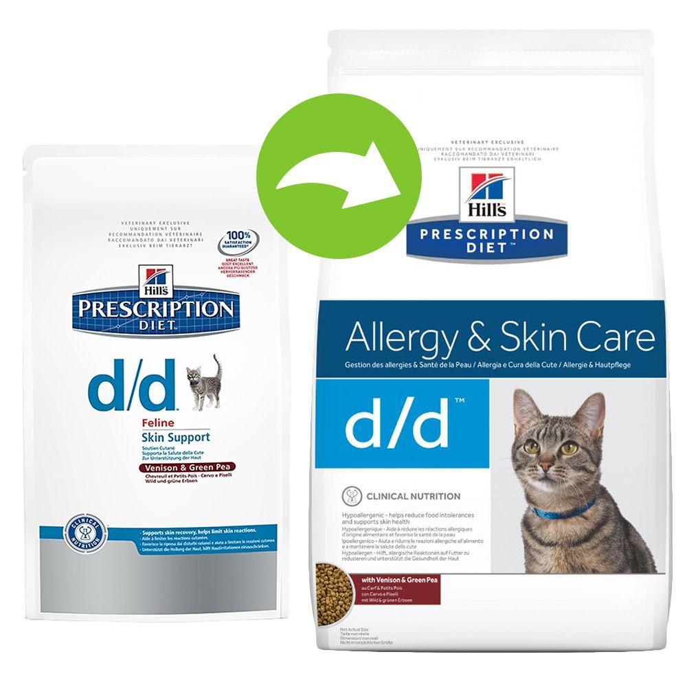 Hill's Prescription Diet Feline d/d - alergie pokarmowe - 2 x 1,5 kg