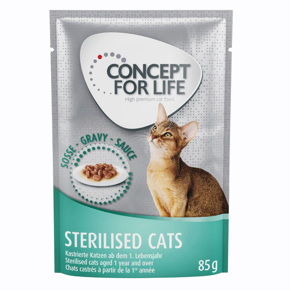 36 + 12 på köpet! Concept for Life våtfoder 48 x 85 g - Light Cats i sås
