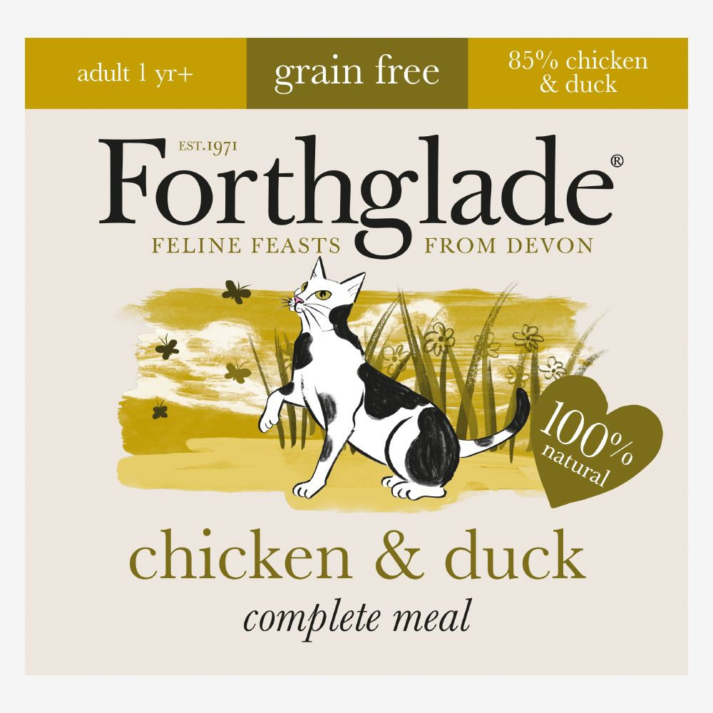 Forthglade Complete Meal Grain-Free Adult Cat - Chicken & Duck - 12 x 90g