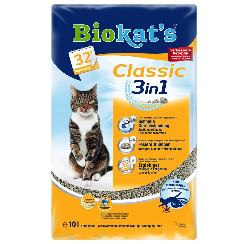 10l Biokat's 3in1 Cat Litter - 10% Off!* - Classic Fresh 3in1 Baby Power Scent (10l)