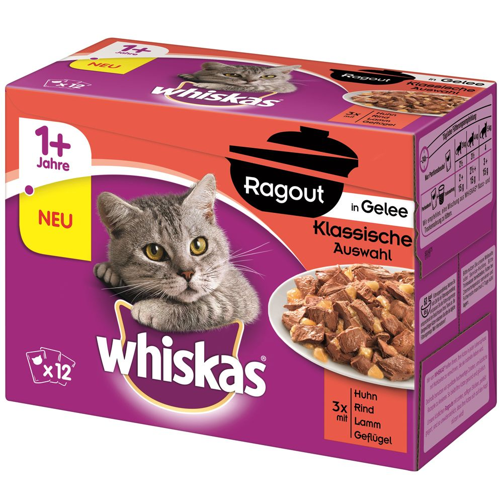 Whiskas 1+ Ragout, 12 x 8