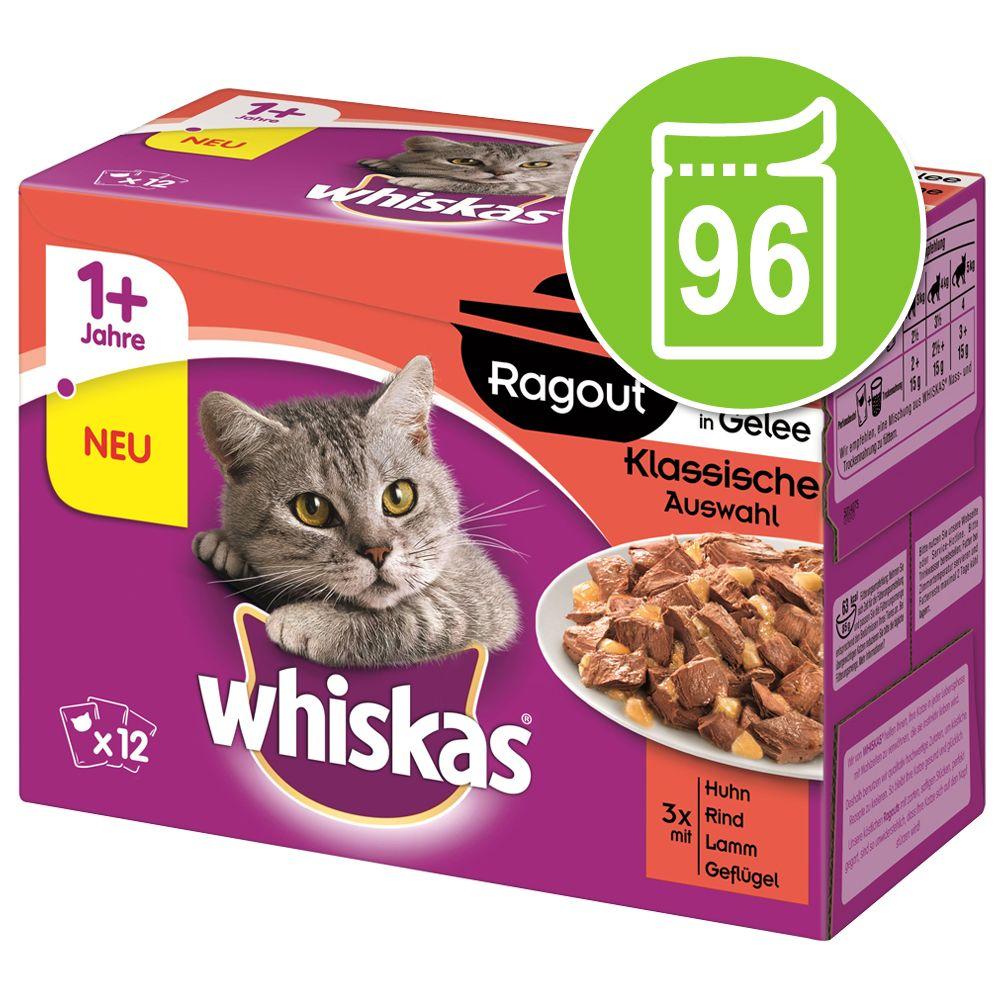 Ekonomipack: Whiskas Ragout 96 x 85 g – Fjäderfäsorter i gelé