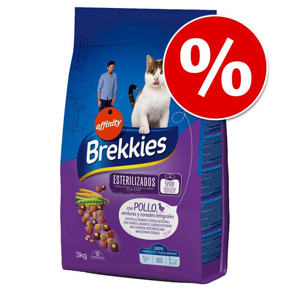4x3kg Brekkies Delicious poulet, dinde et légumes - Croquettes pour chat