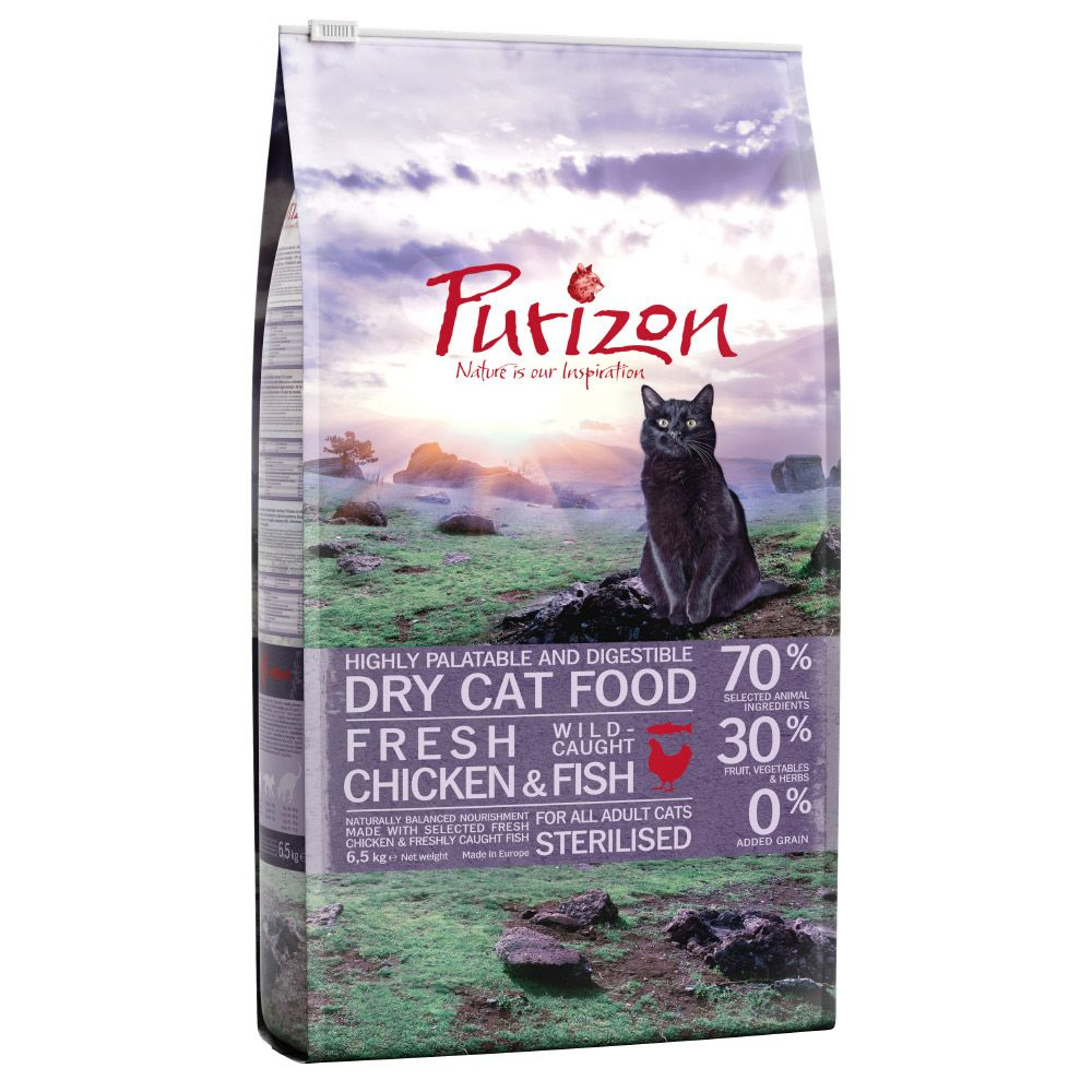 6.5kg Purizon Dry Cat Food + Reindeer Catnip Cat Toy Free