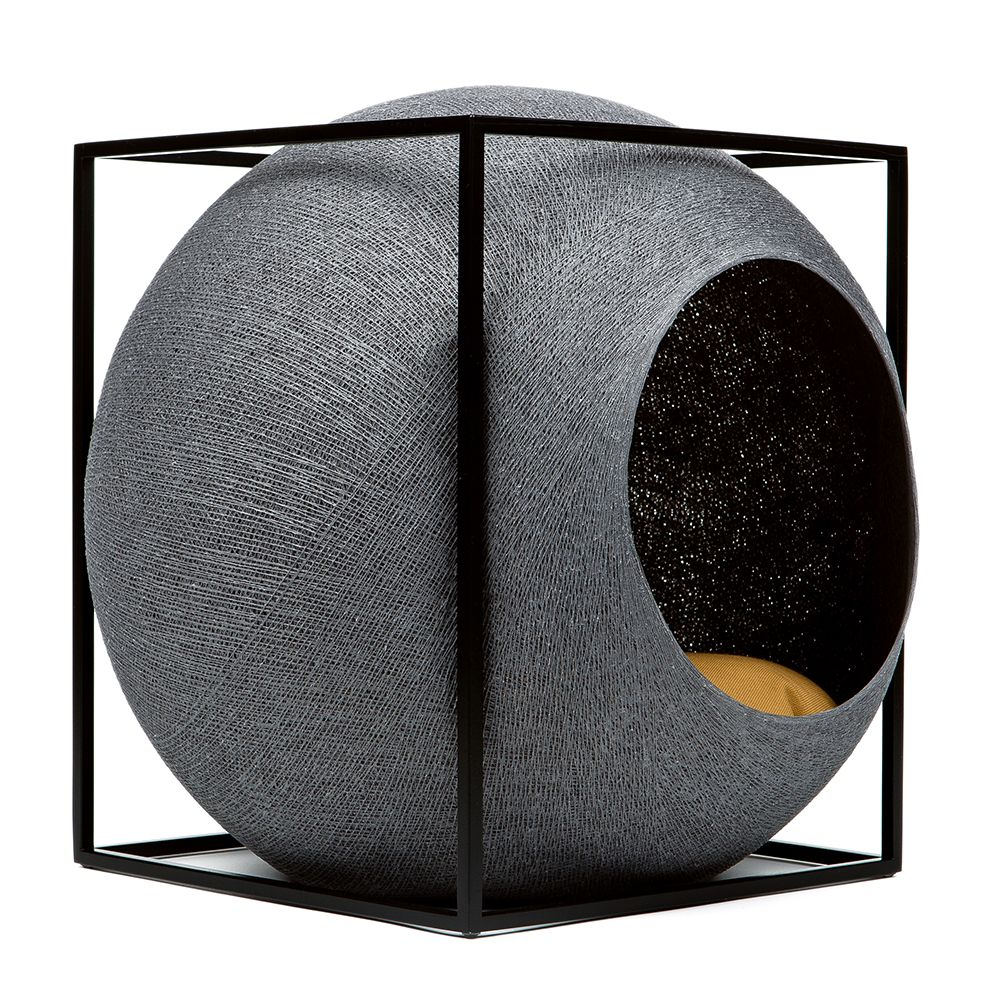 This avant-garde Meyou Cube Metal cat den from a Parisian designer offers functionality and comfort for your cat. It is elegant and chic, with clean lines made fro...