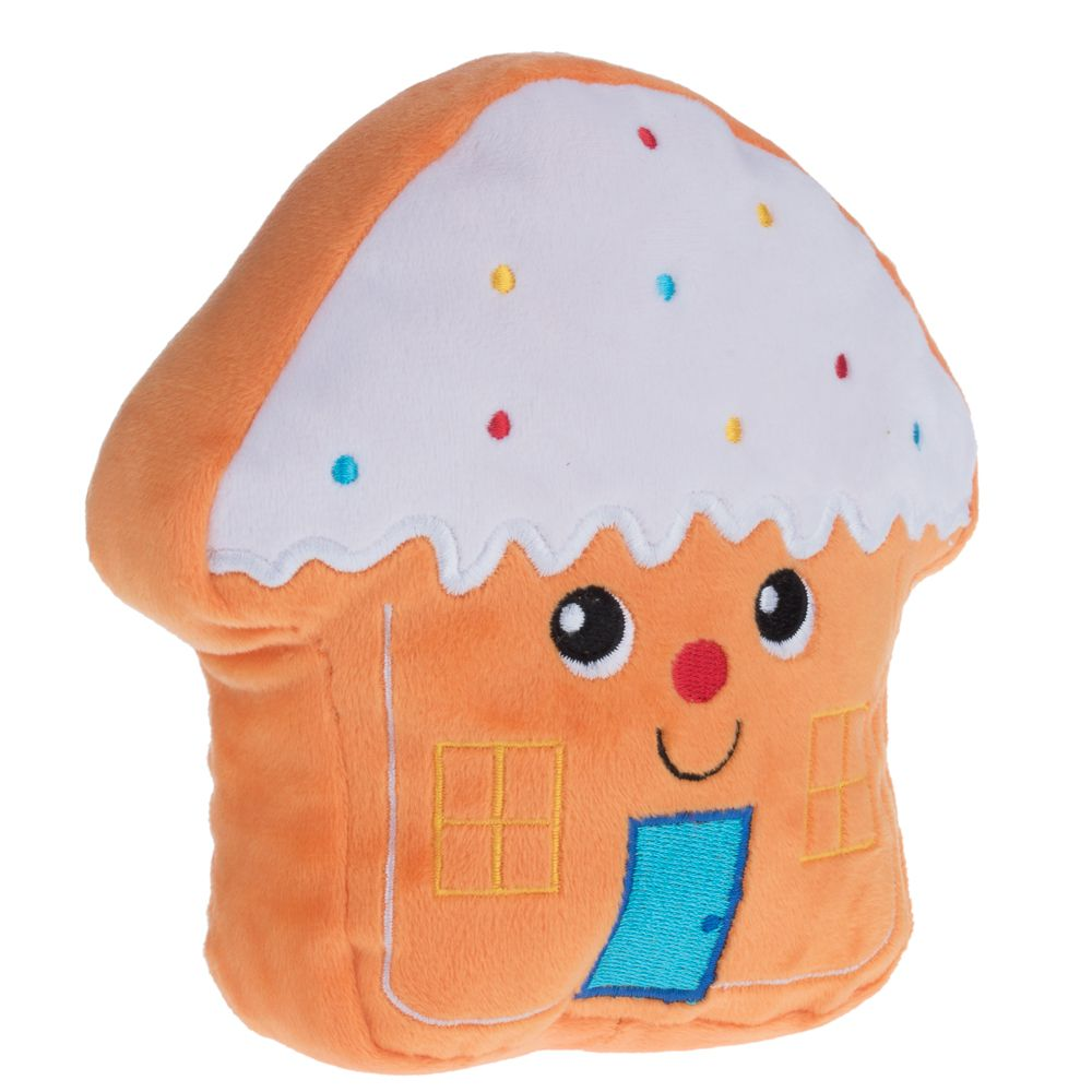 Gingerbread House Dog Toy