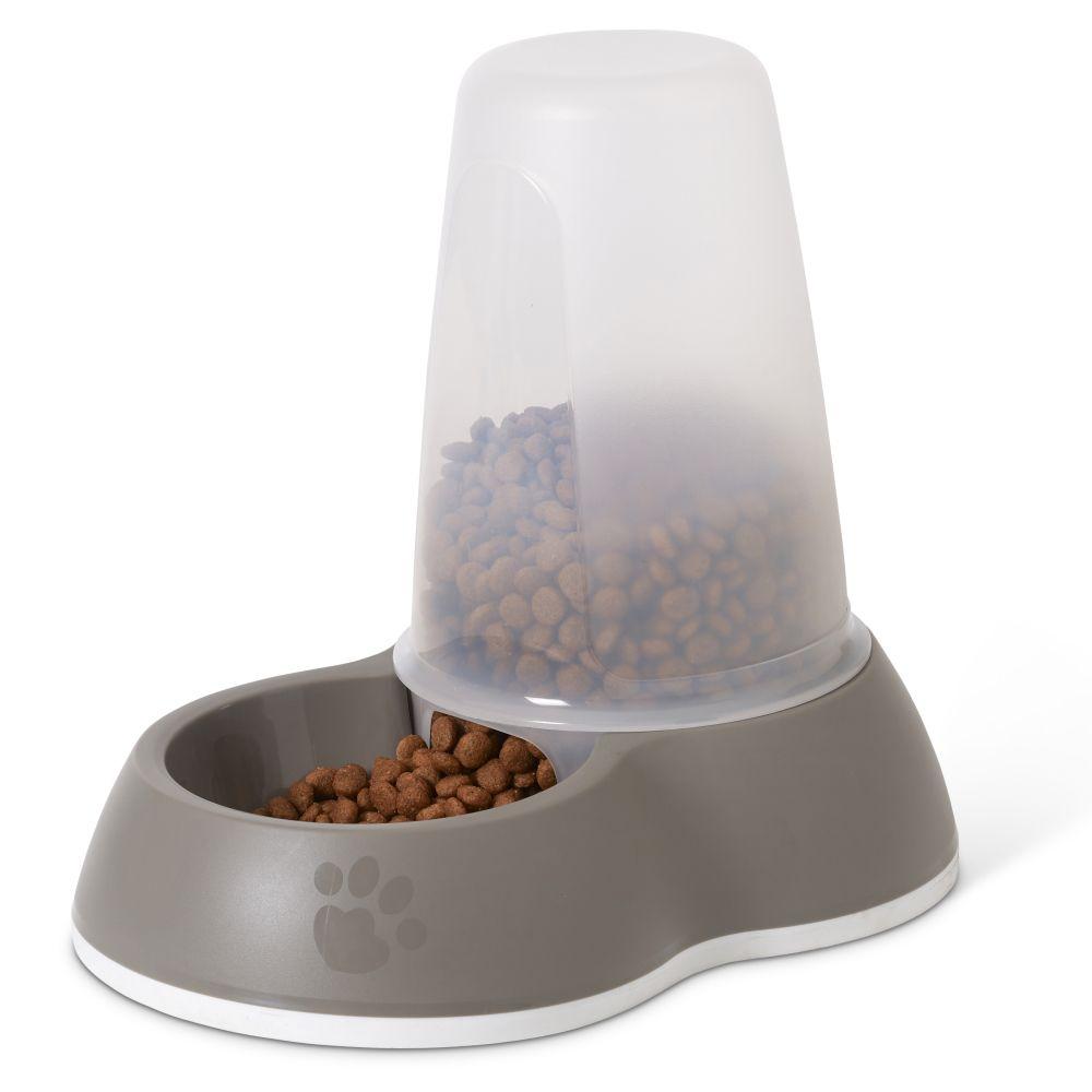 Savic Loop fodergivare - grå - 1,5 liter L 26 x B 17,5 x H 23 cm