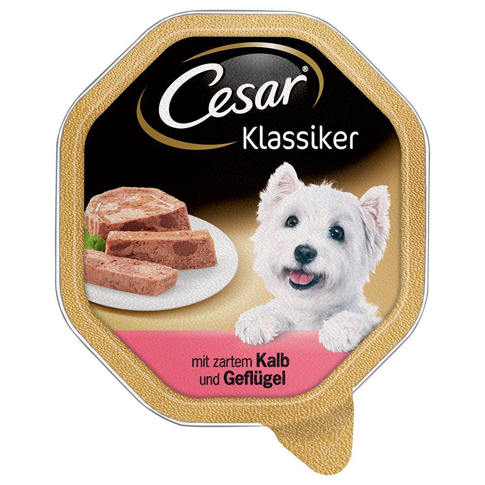 Ekonomipack: Cesar 56 x 150 g portionsform - Classic Lamm & kalkon