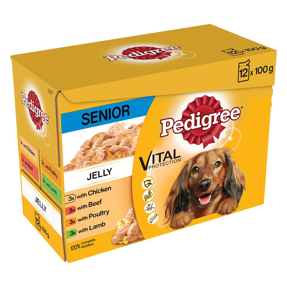 Pedigree Senior Pouch in Jelly Multipack Wet Dog Food