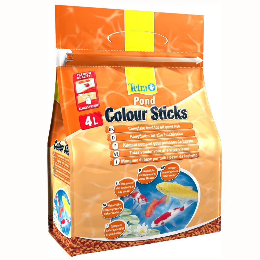 Tetra Pond Colour Sticks dammfiskfoder – 4000 ml
