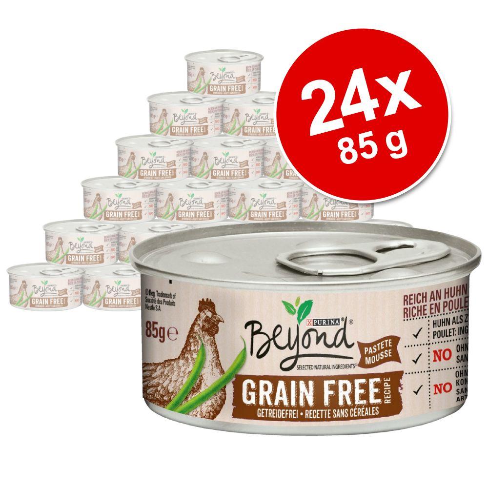 Ekonomipack: Beyond Grainfree Mousse 24 x 85 g - Salmon