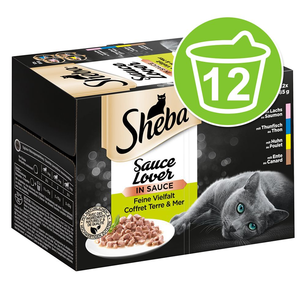 Multipack Sheba Varietäten Schälchen 12 x 85 g - Sauce Speciale