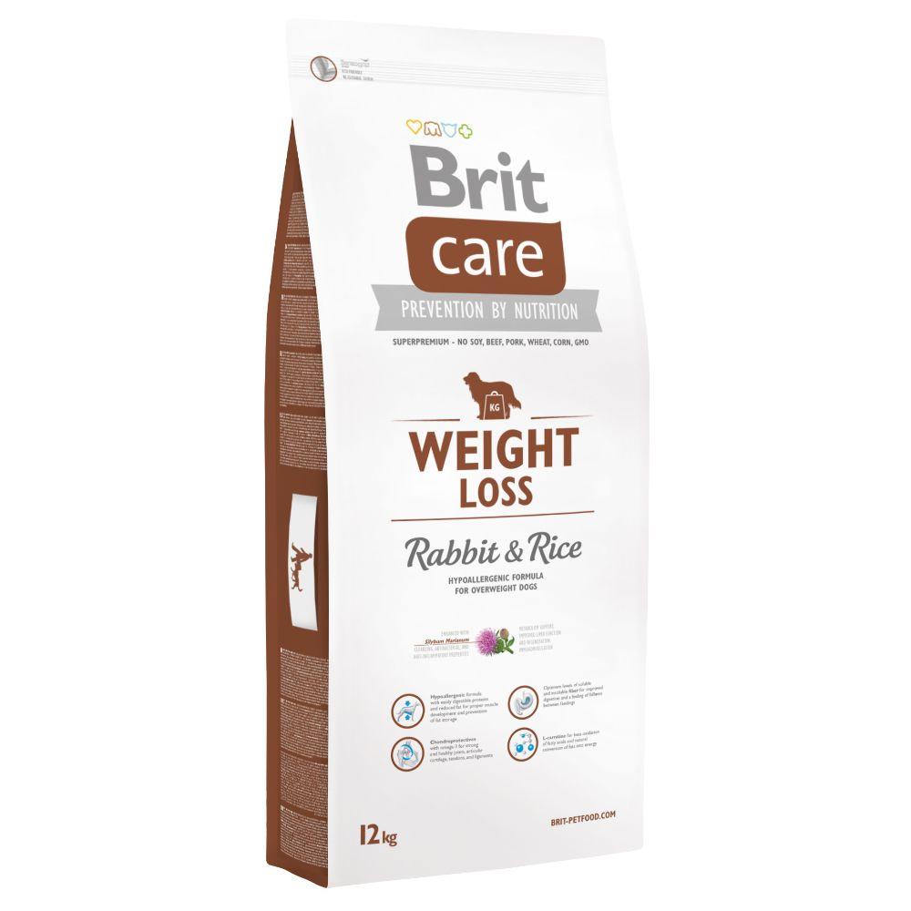12kg Weight Loss lapin riz Brit Care - Croquettes pour Chien