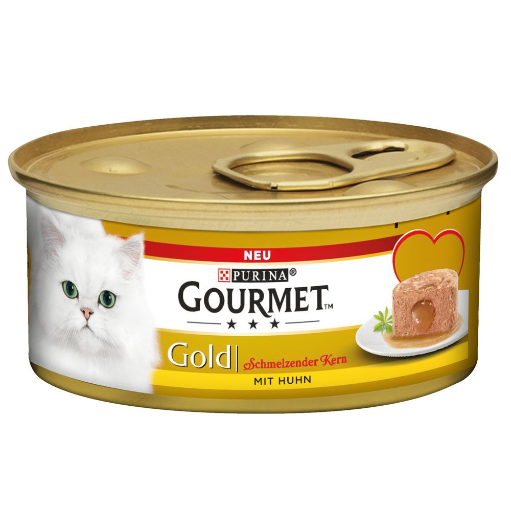 Gourmet Gold Melting Heart 12 x 85 g - Nötkött