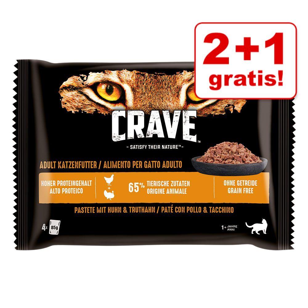 8 + 4 på köpet! 12 x 85 g Crave Pasté - Chicken & Turkey