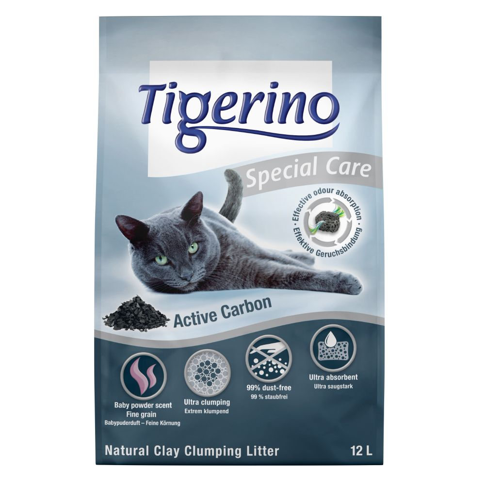 Tigerino Special Care - Active Carbon - Ekonomipack: 2 x 12 l