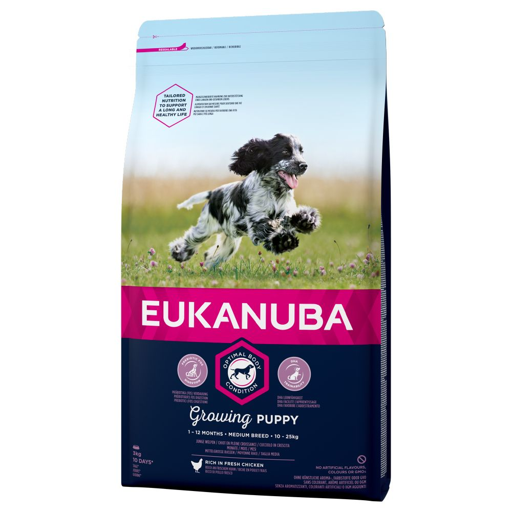 Chicken Medium Breed Growing Puppy Eukunuba Dry Dog Food