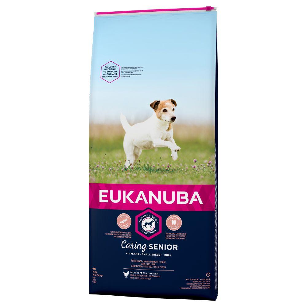 2x3kg Caring Senior Small Breed Kylling Eukanuba hundefoder