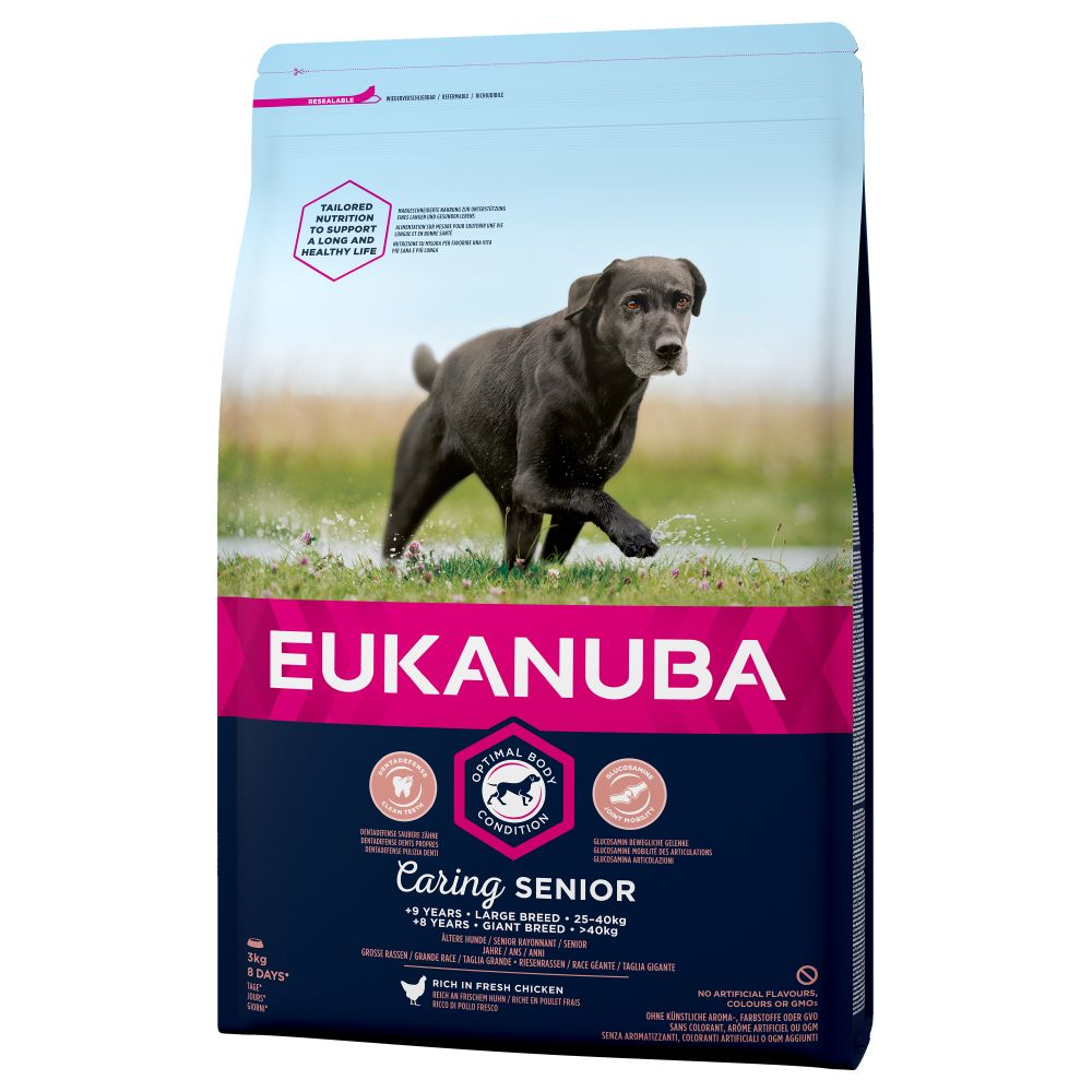 Eukanuba Caring Senior Large Breed Chicken - Ekonomipack: 2 x 15 kg