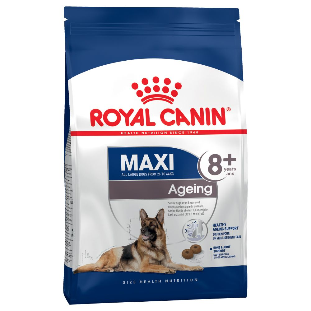 Large breed dogs have a shorter life expectancy than other dogs and often start to age earlier. Royal Canin Maxi Ageing 8+ is made with carefully selected nutrient...