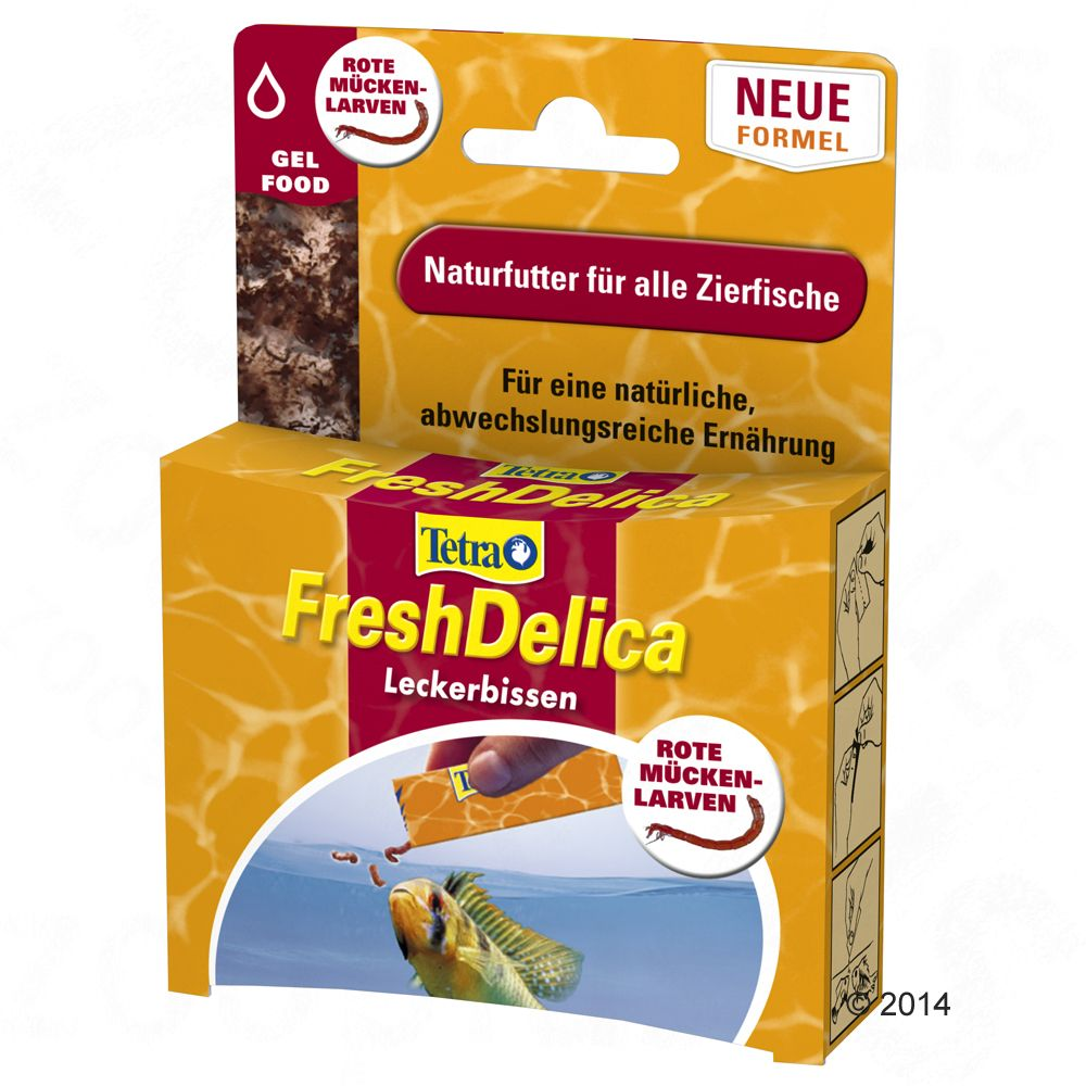 FreshDelica from Tetra is a complementary feed with twice the nutritional value of frozen food. The food is enriched with all the essential vitamins, trace element...