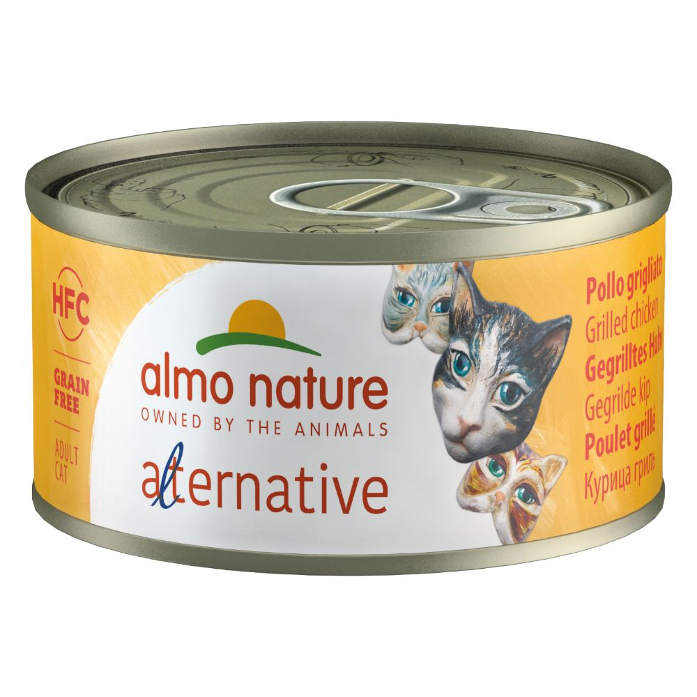 Almo Nature HFC Alternative Cat 6 x 70 g Grillad kyckling